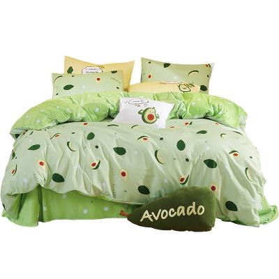 梦洁(MENDALE)家纺网红款MEE纯棉三四件套梦洁全棉被套床单ins少女心水果色1.5m1.8m套件