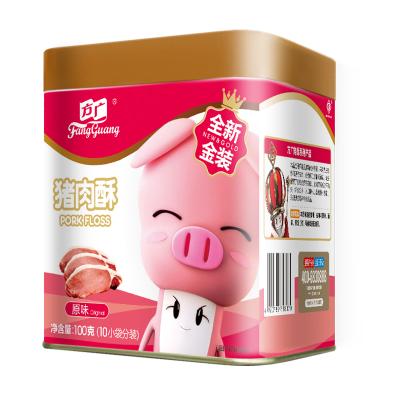 方广 儿童零食 猪类肉松 肉酥≠肉松 猪肉酥肉粉松 原味100g 铁罐装(10小袋分装)下饭菜
