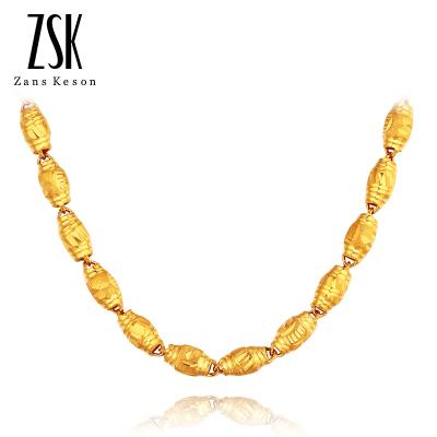 ZSK珠宝 黄金项链男 全橄榄男士足金项链 999金项链(计价)15.35克/50CM