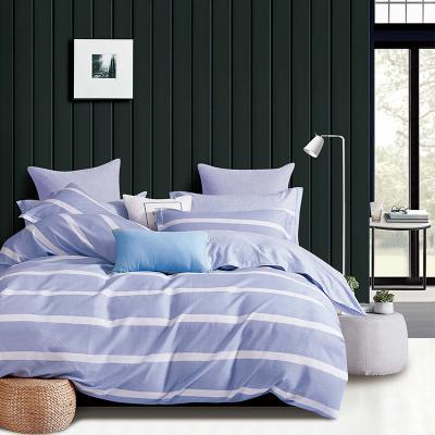 红豆全棉印花四件套花卉床上用品纯棉被套清新床单简约双人1.8床