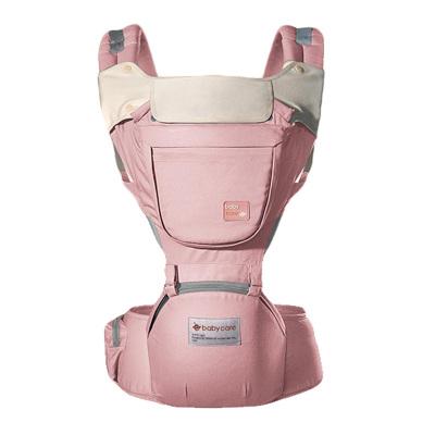 babycare 新生儿四季透气宝宝腰凳多功能婴儿背带 巴基斯坦棉纱材质 樱粉 9865