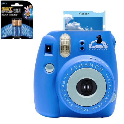 【套餐】富士(FUJIFILM)INSTAX 一次成像相机 MINI8 相机 熊本熊 蓝色(10张相纸)+金霸王5号电池