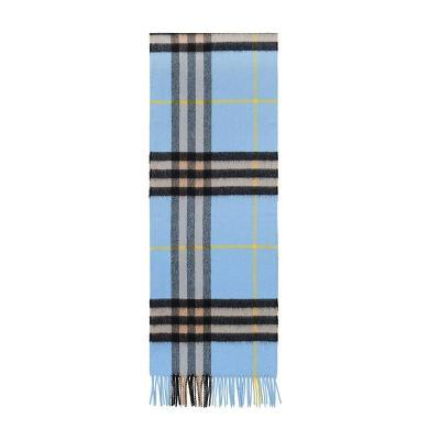 BURBERRY 博柏利 男女通用款经典格纹羊绒围巾 80047051