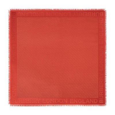 BURBERRY 博柏利 男女通用款提花丝毛混纺大号方巾围巾 80113441