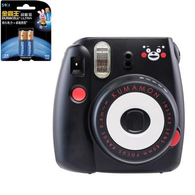 【套餐】富士(FUJIFILM)INSTAX 一次成像相机 MINI8 相机 熊本熊 黑色+金霸王5号电池2粒装