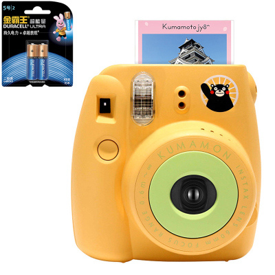 【套餐】富士(FUJIFILM)INSTAX 一次成像相机 MINI8 相机 熊本熊 黄色(10张相纸)+金霸王5号电池